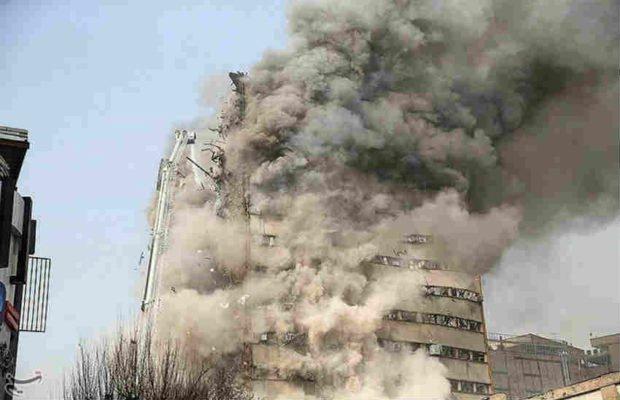 ईरान में आग लगने से 15 मंज़िला ईमारत गिरी, 30 की मौत