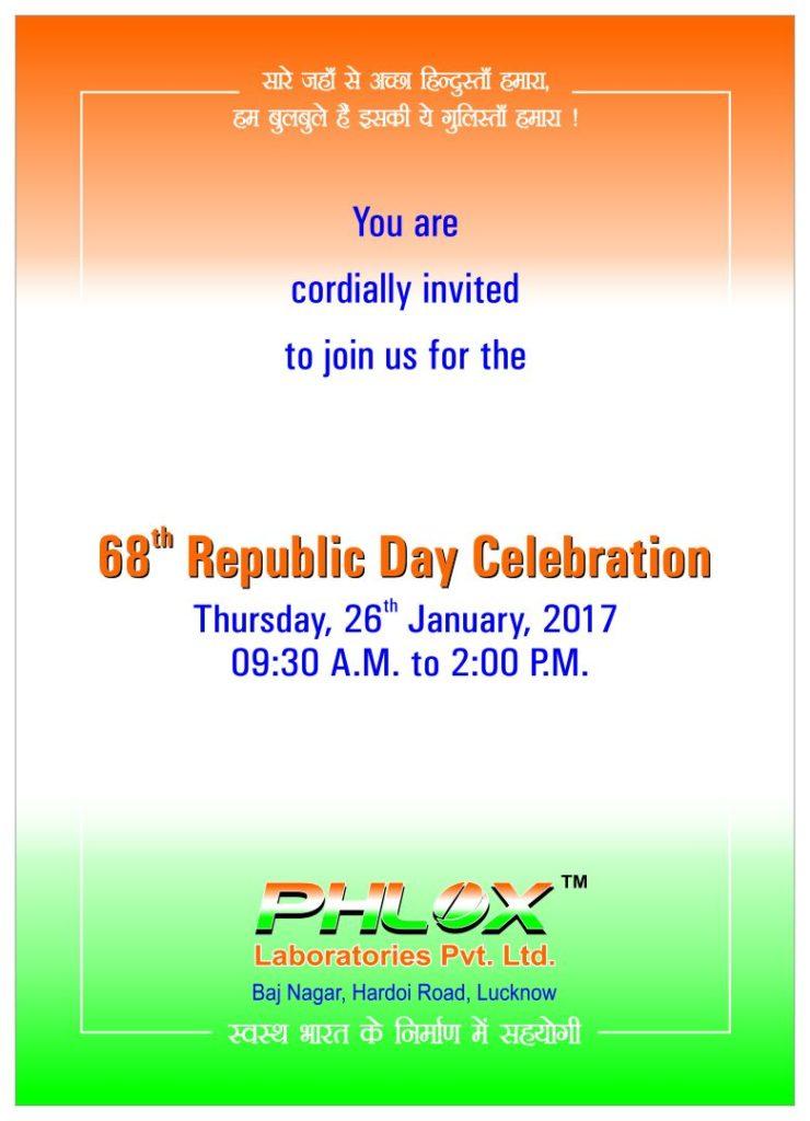 फ्लॉक्स लेबोरेटरीज़ 68वें गणतंत्र दिवस पर खास आयोजन करेगा