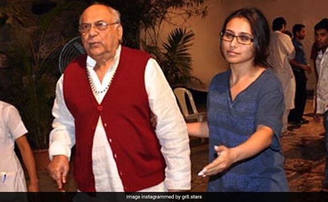रानी मुखर्जी के पिता राम मुखर्जी का लंबी बीमारी के बाद हुआ का निधन