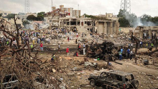 موغادیشو کی تاریخ کے بدترین دھماکے میں ہلاکتوں کی تعداد 230 تک پہنچ گئی