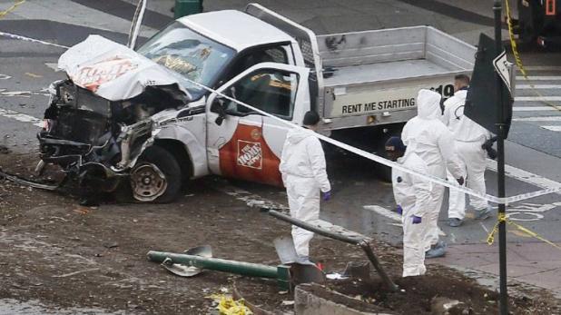 न्यूयॉर्क में आतंकी हमला, हमलावर ने ट्रक से 8 को रौंदा, 10 से ज्यादा घायल