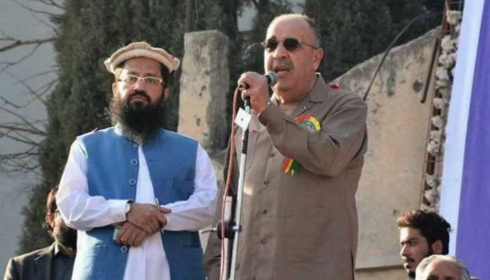 भारत-विरोधी रैली में हाफिज के साथ फिलीस्तीन के राजदूत