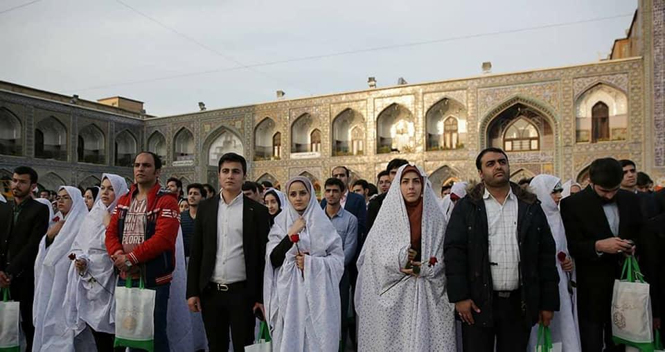 हरम -ए- इमाम रज़ा ( अ0स0 ) में 800 नौजवान जोड़ो का सामूहिक विवाह.....Full Stock photo