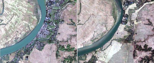 میانمار میں روہنگیا مسلمانوں کے دیہات مسمار کر دیے گئے