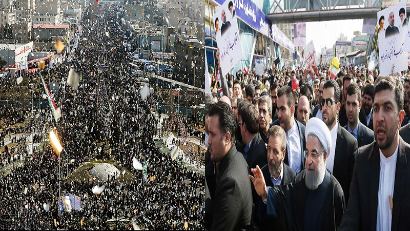 ईरान में आज़ादी की रैली में जनता की मौजूदगी का रिकॉर्ड टूटा, दुश्मन हैरान व परेशान