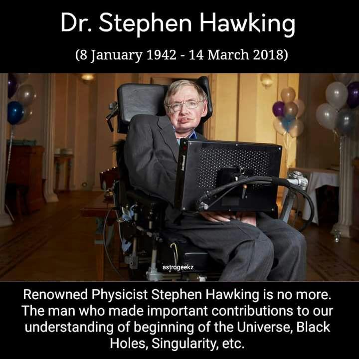 ब्रिटिश वैज्ञानिक स्टीफन हॉकिंग का 76 साल की उम्र में निधन