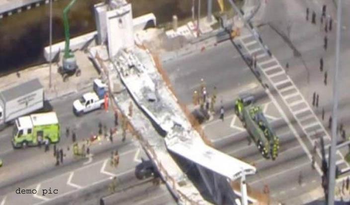 अमेरिका : फ्लोरिडा में पुल गिरने से छह से 10 लोगों की मौत
