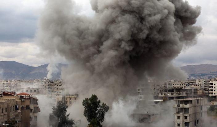 अमेरिका, ब्रिटेन और फ्रांस के हमलो से दहला सीरिया