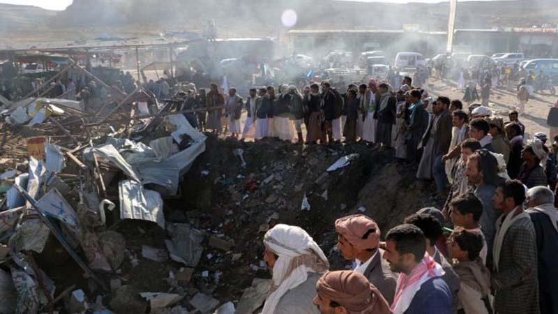 यमन, शरणार्थी कैम्प पर सऊदी युद्धक विमानों के हमले में 29 लोगों की मौत