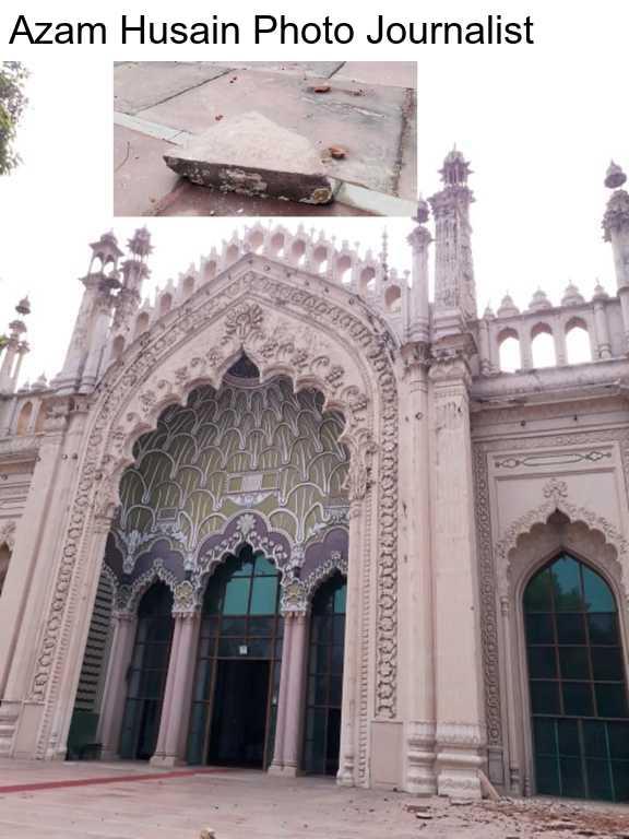 और फिर इतनी तेज़ चली आंधी कि........ जामा मस्जिद का छोटा गुम्बद नीचे आ गिरा