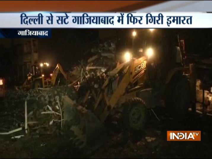 गाजियाबाद में पांच मंजिला इमारत गिरी, कई लोगों के दबे होने की आशंका