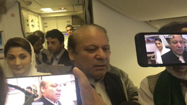 पाकिस्तान के पूर्व प्रधानमंत्री नवाज शरीफ & बेटी मरियम लाहौर पहुंचते ही गिरफ्तार, पासपोर्ट भी जब्त