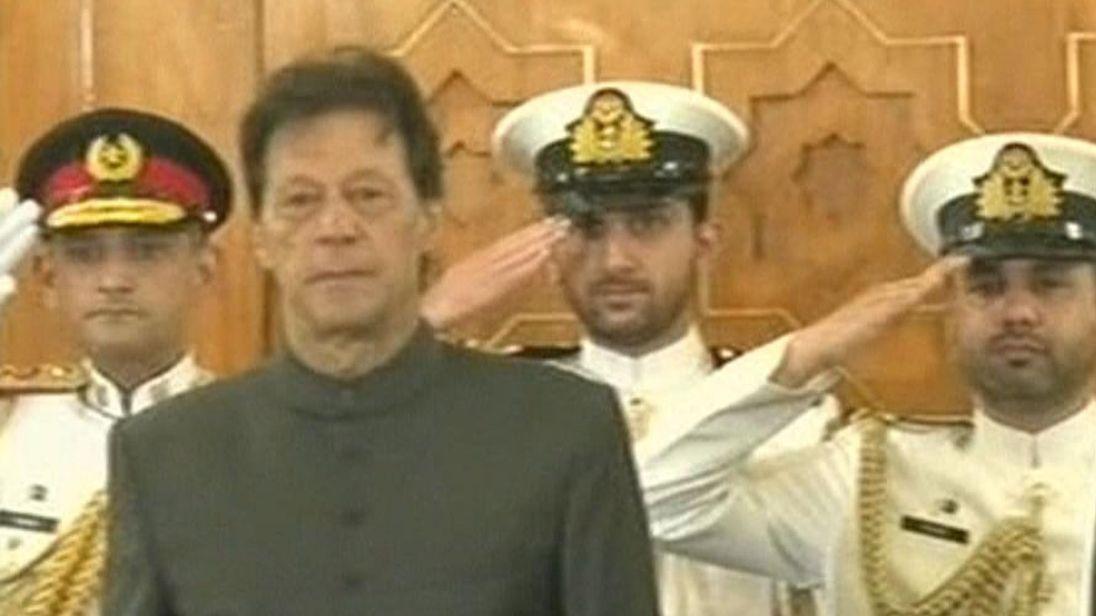 पाकिस्तान के 22 वें प्रधानमंत्री बने इमरान खान