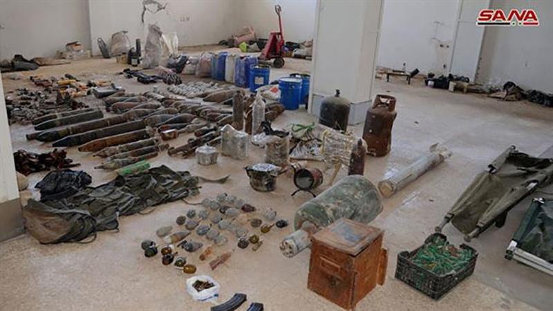 सीरिया में फिर इस्राईल निर्मित बम, ग्रेनेड और व युद्ध सामग्री बरामद हुयी