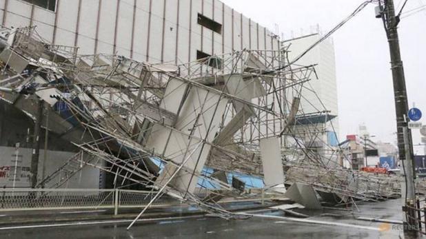 जापान में 25 साल का सबसे भीषण तूफान, 8 की मौत, 800 उड़ानें रद्द