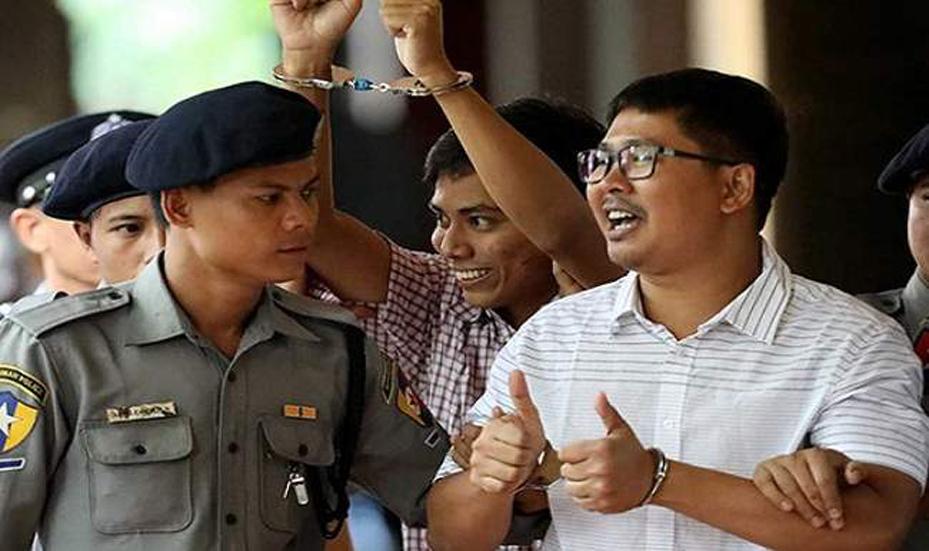 म्यांमार : रोहिंग्या मुसलमानों की हत्या पर रिपोर्ट बना रहे थे- रॉयटर्स के दो पत्रकारों को 7 साल की सज़ा